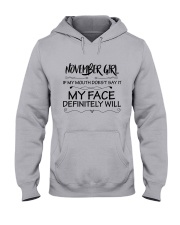 november girl my face defintely will Hooded Sweatshirt thumbnail