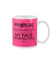november girl my face defintely will Mug thumbnail