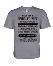 yes i'm a spoiled wife march V-Neck T-Shirt thumbnail