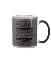 yes i'm a spoiled wife march Color Changing Mug thumbnail