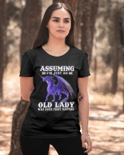 assuming i'm just an old lady Ladies T-Shirt apparel-ladies-t-shirt-lifestyle-05