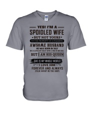 yes i'm a spoiled wife juiy V-Neck T-Shirt thumbnail