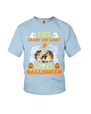 this crazy cat Youth T-Shirt thumbnail