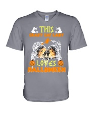this crazy cat V-Neck T-Shirt thumbnail