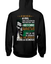 mes cicatrices racontent une histoire avril Hooded Sweatshirt back