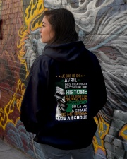 mes cicatrices racontent une histoire avril Hooded Sweatshirt lifestyle-unisex-hoodie-back-1