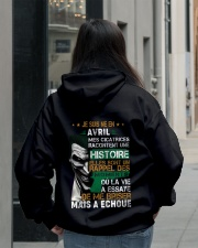 mes cicatrices racontent une histoire avril Hooded Sweatshirt lifestyle-unisex-hoodie-back-2