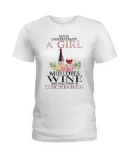 december who loves wine Ladies T-Shirt front