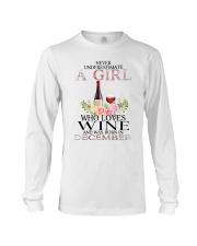 december who loves wine Long Sleeve Tee thumbnail