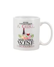 december who loves wine Mug thumbnail