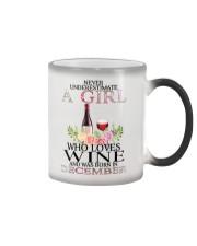 december who loves wine Color Changing Mug thumbnail