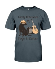 easilly distracted dogs and guitar Classic T-Shirt thumbnail