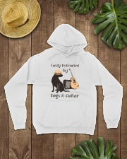 easilly distracted dogs and guitar Hooded Sweatshirt lifestyle-unisex-hoodie-front-7