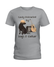 easilly distracted dogs and guitar Ladies T-Shirt thumbnail