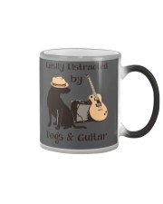 easilly distracted dogs and guitar Color Changing Mug thumbnail