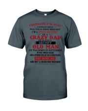 crazy dad born in september Classic T-Shirt thumbnail