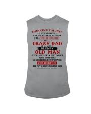 crazy dad born in september Sleeveless Tee thumbnail