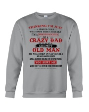 crazy dad born in september Crewneck Sweatshirt thumbnail