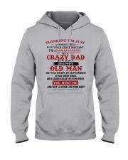 crazy dad born in september Hooded Sweatshirt thumbnail