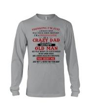 crazy dad born in september Long Sleeve Tee thumbnail