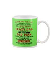 crazy dad born in september Mug thumbnail