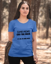 some moms cuss to much Ladies T-Shirt apparel-ladies-t-shirt-lifestyle-05