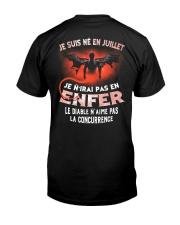 juillet enfer Classic T-Shirt back