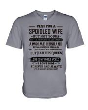 yes i'm a spoiled wife january V-Neck T-Shirt thumbnail