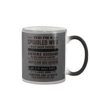 yes i'm a spoiled wife january Color Changing Mug thumbnail