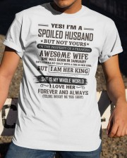 yes i'm a spoiled husband january Classic T-Shirt apparel-classic-tshirt-lifestyle-28
