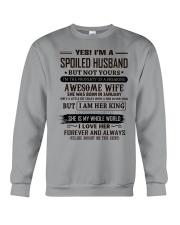 yes i'm a spoiled husband january Crewneck Sweatshirt thumbnail