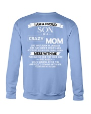 crazy mom january Crewneck Sweatshirt tile