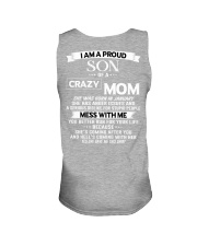 crazy mom january Unisex Tank tile