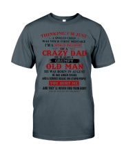 crazy dad born in august Classic T-Shirt thumbnail