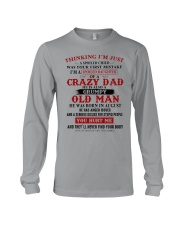 crazy dad born in august Long Sleeve Tee thumbnail