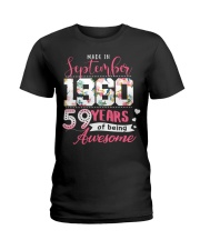 made in september 1960 Ladies T-Shirt front