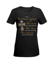 yo soy una chica de septiembre Ladies T-Shirt women-premium-crewneck-shirt-front