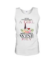 july who loves wine Unisex Tank thumbnail