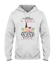 july who loves wine Hooded Sweatshirt thumbnail