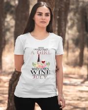 july who loves wine Ladies T-Shirt apparel-ladies-t-shirt-lifestyle-05