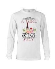 july who loves wine Long Sleeve Tee thumbnail