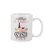 july who loves wine Mug thumbnail