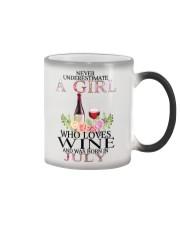 july who loves wine Color Changing Mug thumbnail