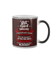 april girl smilling Color Changing Mug thumbnail