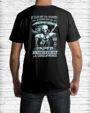 janvier skull enfer Classic T-Shirt lifestyle-mens-crewneck-back-1