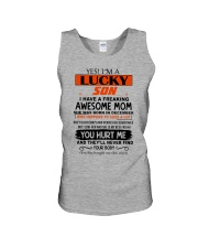 i have a freaking awsome mom december Unisex Tank thumbnail