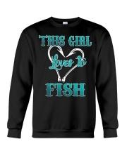 this girl love to fish Crewneck Sweatshirt thumbnail