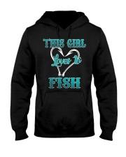 this girl love to fish Hooded Sweatshirt thumbnail