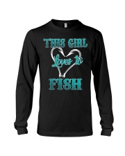 this girl love to fish Long Sleeve Tee thumbnail