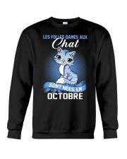 chat octobre Crewneck Sweatshirt thumbnail
